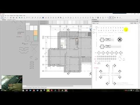 Layout Sketchup - Drawing Floor Plan - part 01