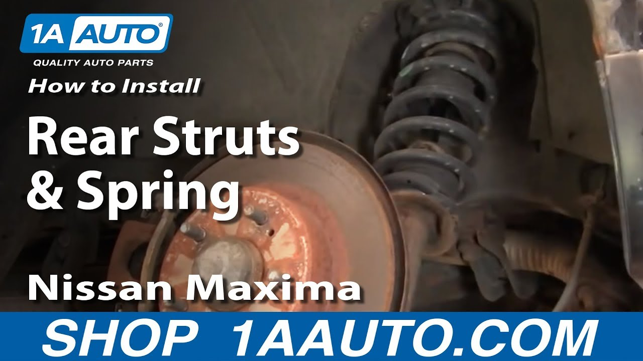 nissan altima parts diagram water heater how to install replace rear struts and springs 2002-03 maxima infinit i30 - youtube