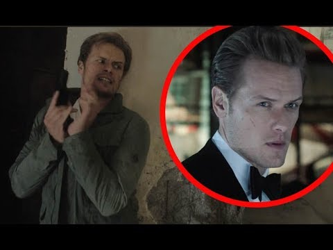 Outlander: First look at star Sam Heughan in the new  for film The Spy Who Dumped Me.