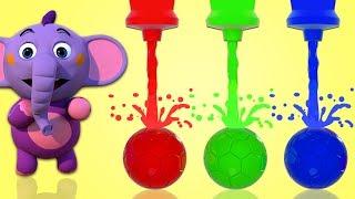 L'elefante Kent gioca con i colori e i palloni | Video Educativi