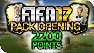 FIFA 17 ♦ 2200 FIFA POINTS PACK OPENING ~ RebornexHD