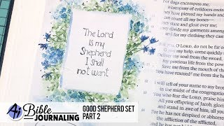 """Watch Bonnie continues to part two, creating a bench by a stream, sheep grazing in the rolling hills, and a sentiment frame in Psalm 23. """"The Lord is my ..."""