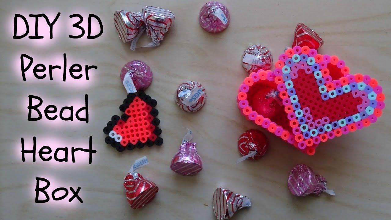 Easy Diy 3d Perler Bead Heart Box Youtube