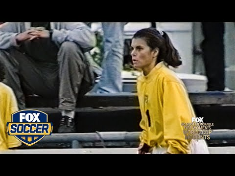 47th Most Memorable Women's World Cup Moment: Mia Hamm the Goalie   FOX SOCCER