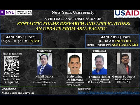 Syntactic Foams Research and Applications: An Update from Asia Pacific