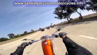 Chopper motorcycle riding