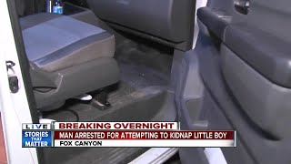 Police: Man grabbed boy, tried to hide him in truck in kidnap attempt