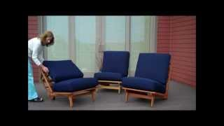 Three Chairs For The Deck... Make A Sofa, A Full Bed, A Loveseat And A Bench.wmv