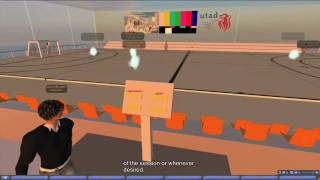 Reproducing Handball Strategies in Second Life On-Demand -  With Subtitles
