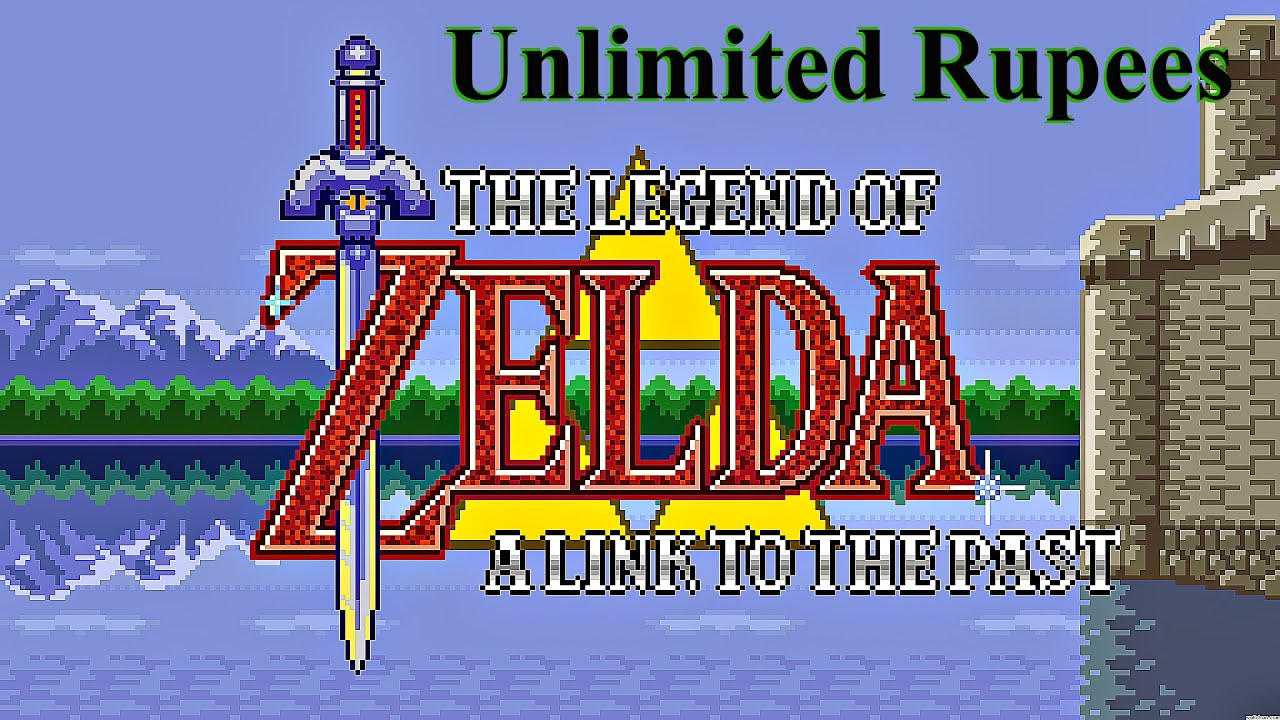 Legend of Zelda: A Link To The Past - Unlimited Rupees