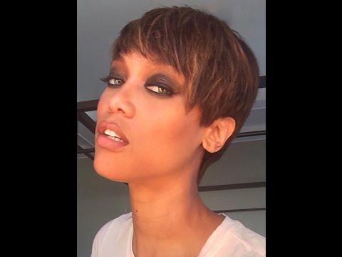 Tyra Banks Debuts Short Pixie Haircut YouTube