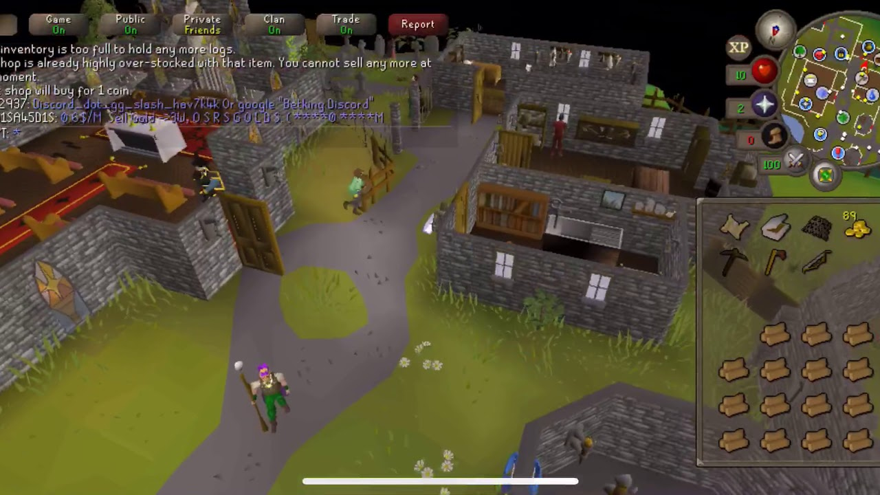 Old School Runescape Mobile 2019 (OSRS iOS) - Gameplay No Commentary -  Bought Iron Axe!