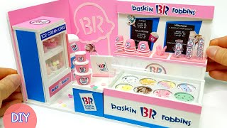 DIY Miniature Realistic Board shop #1 - BaskinRobbins Shop decor