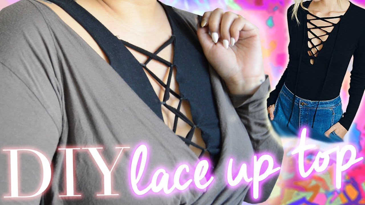 Diy Lace Up Top Easy Cheap Fashion Diy