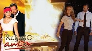 Resumen: ¡Gala quema el vestido de novia de Luciana! | Un refugio para el amor - Televisa