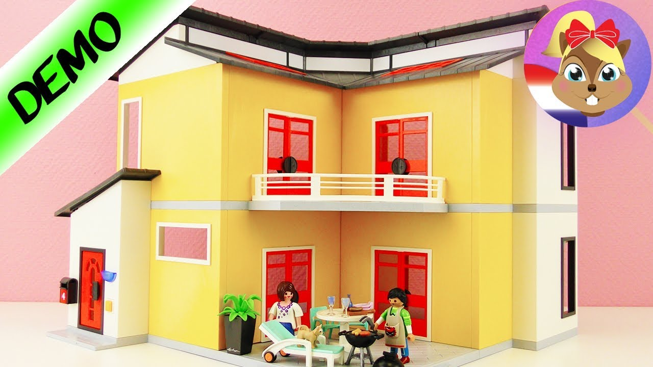 Playmobil modern woonhuis 9266 uitpakken opbouwen for Playmobil modernes haus 9266