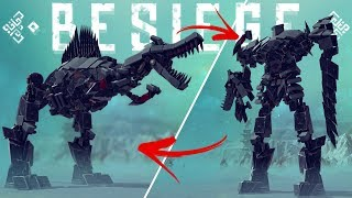 Besiege - GTA in Besiege - The Greatest Dinosaur Transformer u0026 More! - Besiege Gameplay Highlights