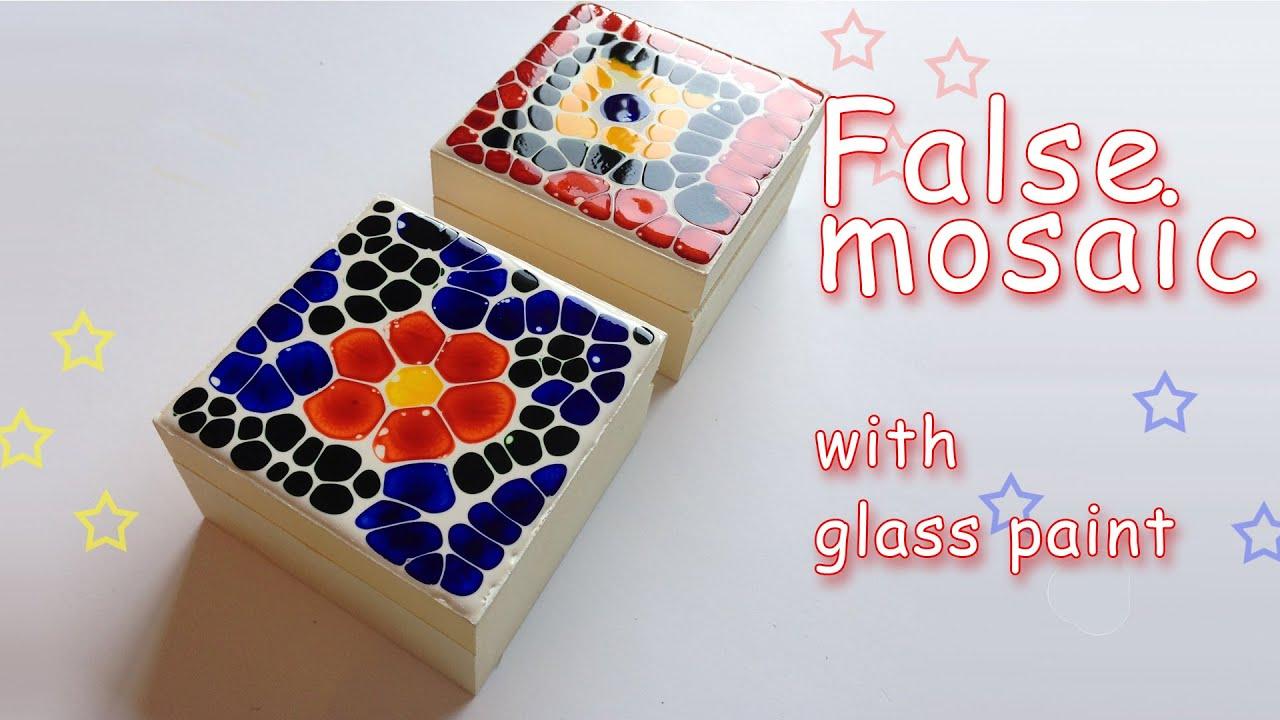 Diy crafts false mosaic with glass paint ana diy - Como se hace manualidades ...