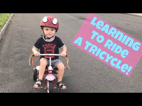 BEST TODDLER CHANNEL! TODDLER LEARNS TO RIDE A TRICYCLE! Radio Flyer Ready-To-Ride Bike!