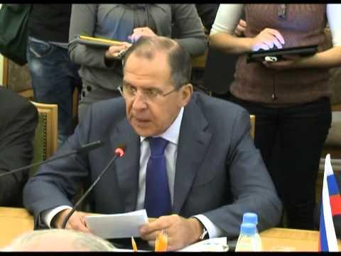 С.В.Лавров на заседании группы по разработке Конвенции о правовом статусе Каспийского моря
