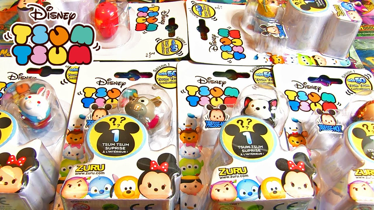 ouverture de 6 boosters disney tsum tsum des figurines. Black Bedroom Furniture Sets. Home Design Ideas