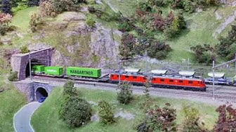 BLS-Modellbahn in Brig im Hotel Good Night Inn
