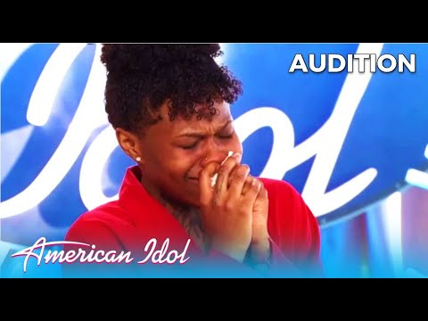 Just Sam: NY Subway Singer BREAKS DOWN in Emotional Audition |  @American Idol  2020