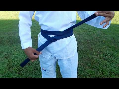 Tutorial Mengikat Sabuk Taekwondo