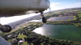 Crosswind Approach to Chichester/Goodwood Airport
