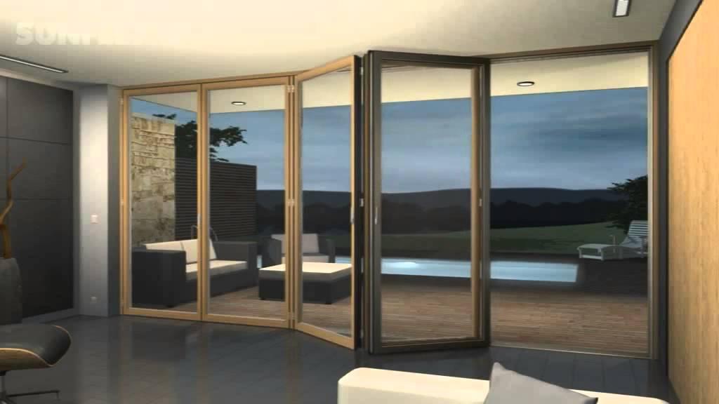 & Sunflex bi-folding doors - YouTube