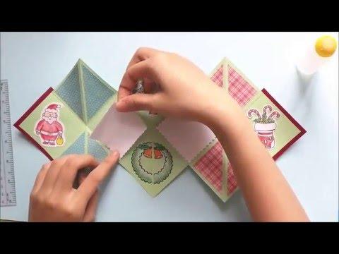 How to make a folding christmas card | Cách làm thiệp giáng sinh độc đáo