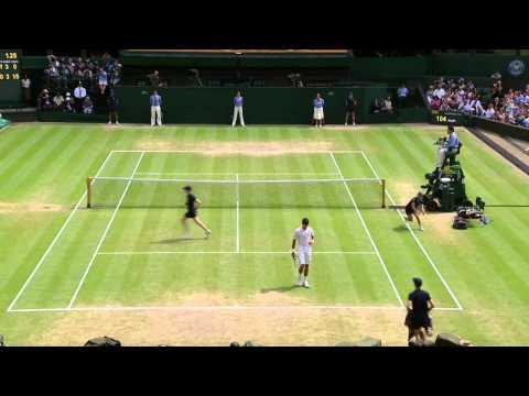 Fantastic passing shot from Del Potro at Wimbledon 2013