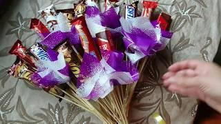 букети з цукерок як зробити самій