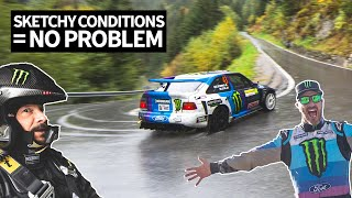 Download Ken Block Goes Flat Out in 6th Gear Through Fog And Rain in the Swiss Alps With Neil Cole! Mp3 and Videos