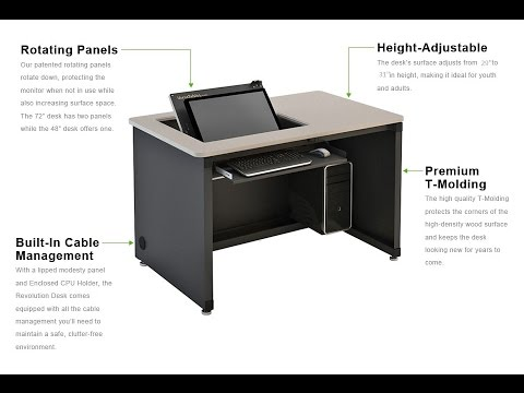 The Revolution Recessed Monitor Desk Versa Tables Youtube