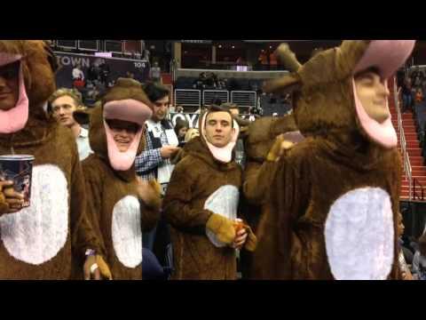 Georgetown Students Dressed As Hoya Saxas