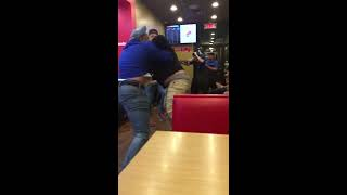 Fight at Dominos Pizza in Oneonta NY!!  COPS SHOW UP!!