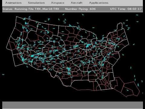 Air Traffic Control Flight Paths North America