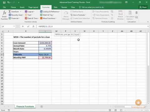 Calculating Loan Payoff In Excel YouTube