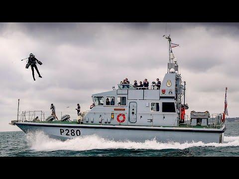 Royal Navy P280 Dasher Jet Suit Landing
