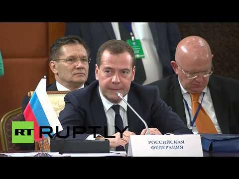 Kazakhstan: Medvedev speaks at Council of CIS prime ministers