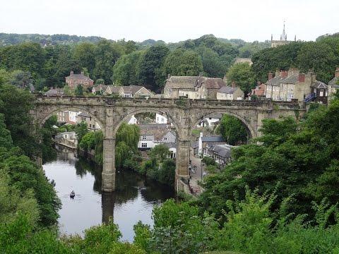 Walking in beautiful Knaresborough Village, (Harrogate) + some sights & sounds around the town.