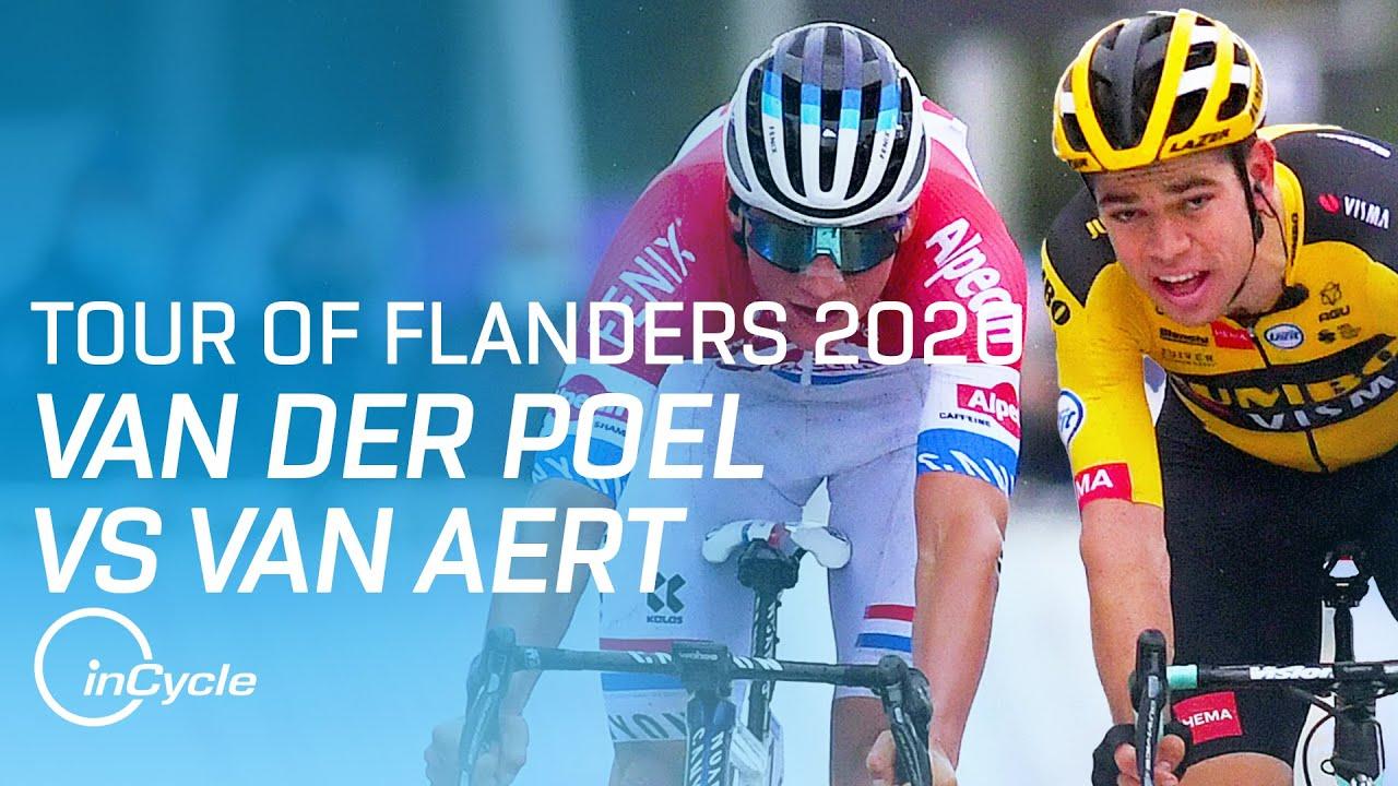 van der poel vs van aert epic battle at the tour of flanders incycle