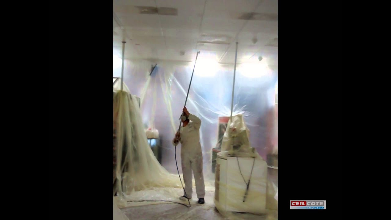 Spray painting suspended ceilings youtube dailygadgetfo Images