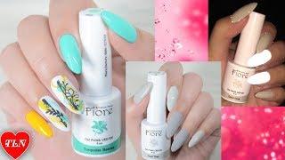 Fiore светящиеся ногти весенний стемпинг дизайн весенний маникюр stamping nail art