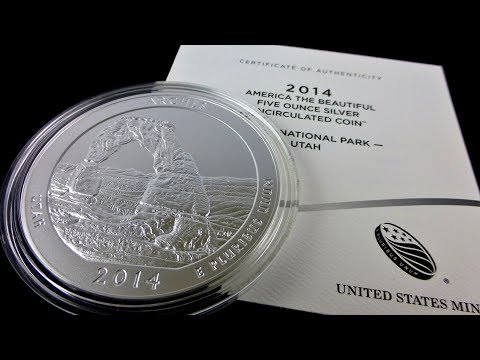 Arches National Park 5 oz. silver coin