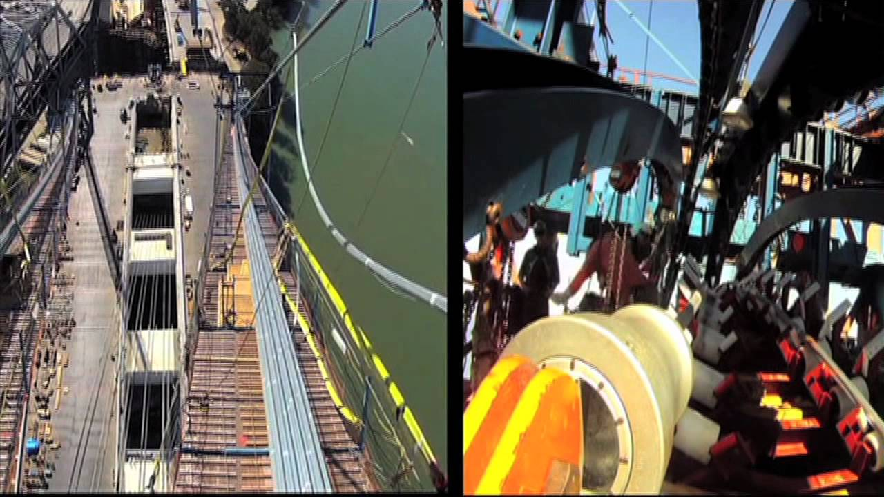 New Bay Bridge Cable Pull Completion