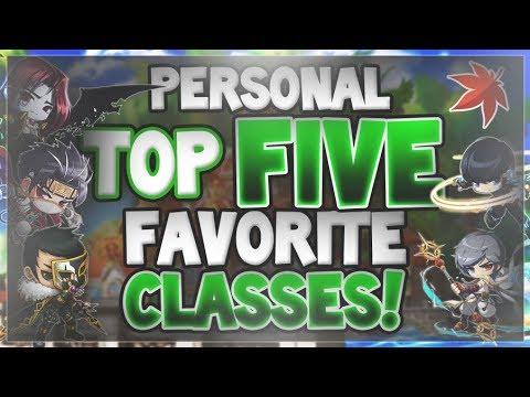MapleStory - My Top Five Favorite Classes! (2018)