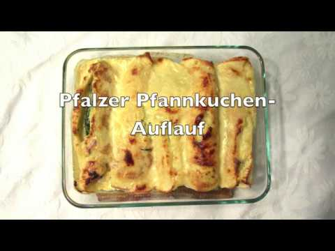 German Cuisine: Pfalzer Pfannkuchen Auflauf (spinach filled pancakes)