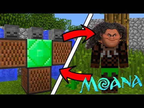How To Spawn MOANA Maui in Minecraft (Maui MOANA Addon)